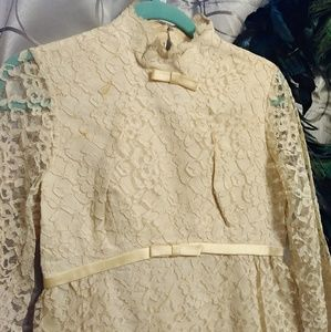 Rare 1950s Vintage Lace Wedding Dress